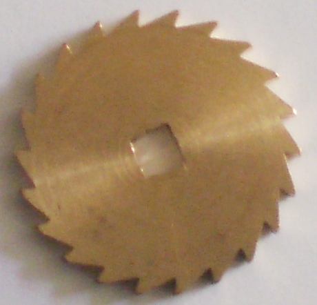 Ratchet Wheel Brass 12mm